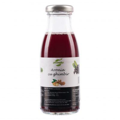 Suc ecologic tonic de aronia cu ghimbir 200 ml